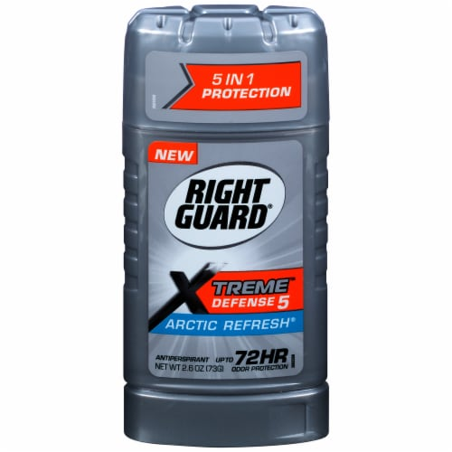 Right Guard Xtreme Defense Arctic Refresh Antiperspirant Stick Perspective: front