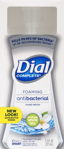Dial Complete Soothing White Tea Foaming Antibacterial Hand Wash Perspective: front