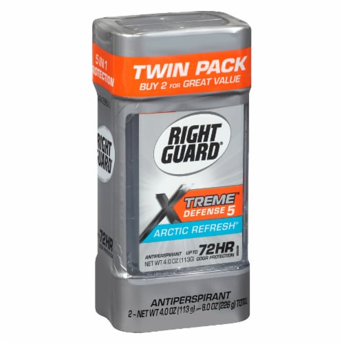 Right Guard Xtreme Defense Arctic Refresh Gel Antiperspirant Twin Pack Perspective: front
