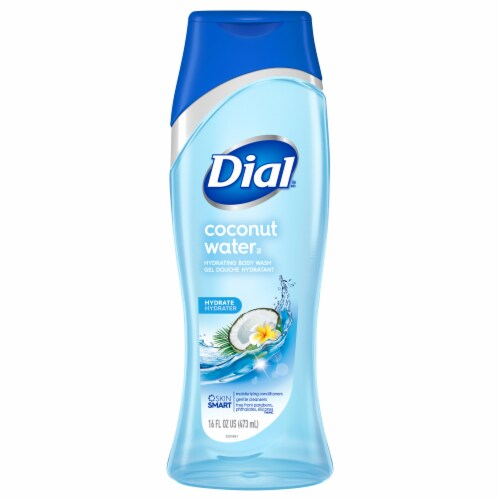 Dial Coconut Water Hydrating Body Wash Perspective: front