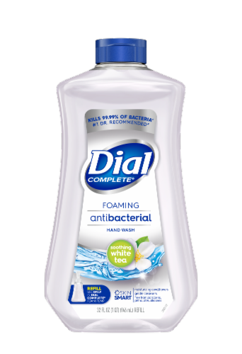 Dial Complete Soothing White Tea Foaming Antibacterial Hand Soap Refill Perspective: front