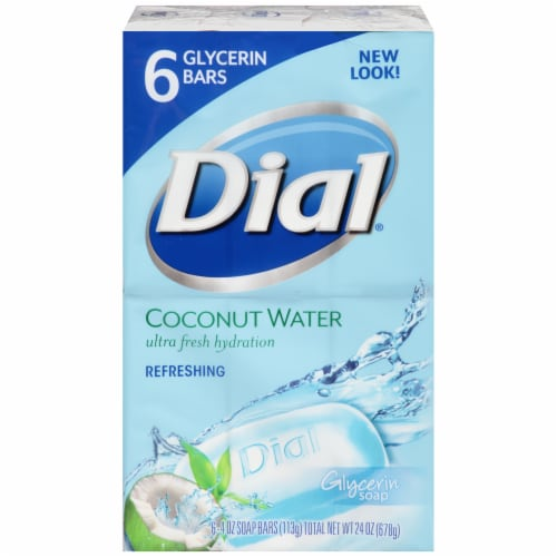 Dial Coconut Water Ultra Fresh Hydration Refreshing Bar Soap Perspective: front