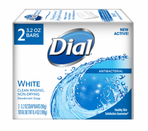 Dial White Antibacterial Bar Soap Perspective: front
