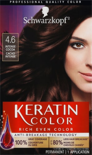 Schwarzkopf Keratin Color Intense Cocoa 4.6 Hair Color Perspective: front
