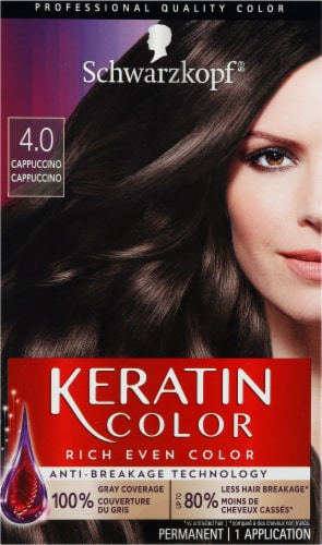 Schwarzkopf Keratin Color Capuccino 4.0 Hair Color Kit Perspective: front