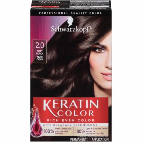 Schwarzkopf Keratin Color Soft Black Hair 2.0 Color Kit Perspective: front