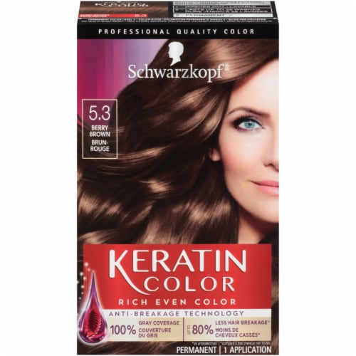 Schwarzkopf Keratin Color Berry Brown 5.3 Hair Color Perspective: front
