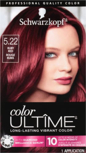Schwarzkopf Color Ultime Ruby Red 5.22 Permanent Hair Color Kit Perspective: front