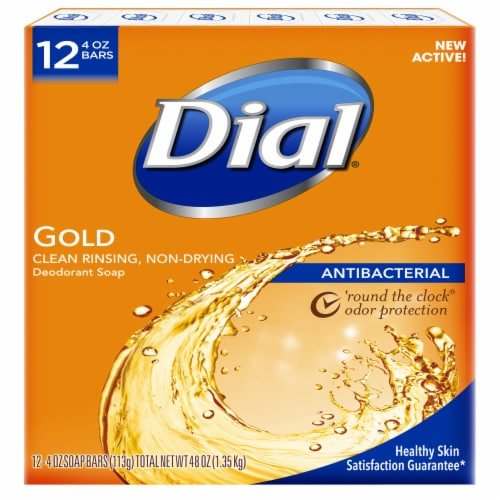 Dial Gold Antibacterial Deodorant Soap Perspective: front