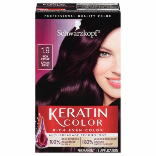 Schwarzkopf Keratin Color 1.9 Rich Caviar Hair Color Perspective: front
