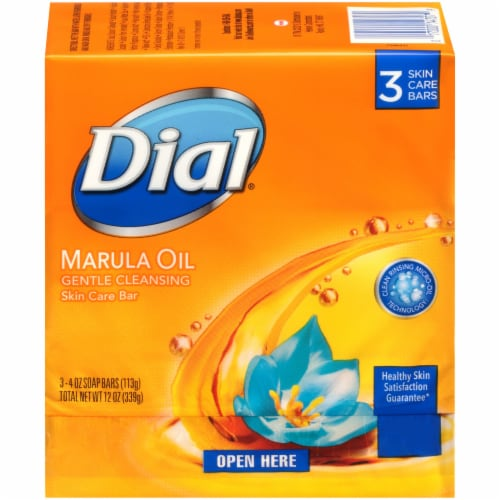 Dial Marula Oil Gentle Cleansing Skin Care Soap Bars Perspective: front