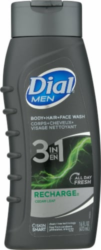 Dial For Men Recharge 3-in-1 Revitalizing Body Wash Perspective: front