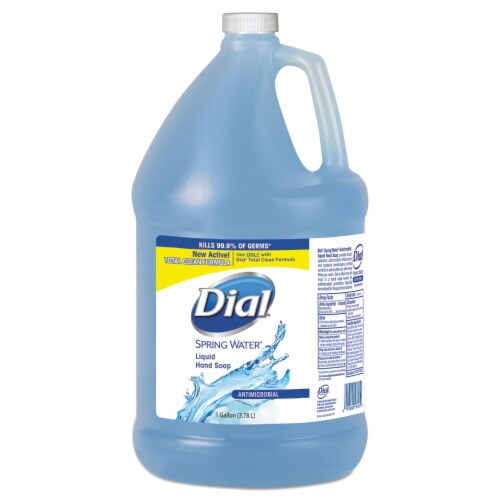 Antimicrobial Liquid Hand Soap Spring Water Scent 1 Gal Bottle 4 Per Each Carton | 1 Carton Perspective: front