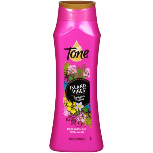 Tone Island Vibes Pineapple & Plumeria Body Wash Perspective: front