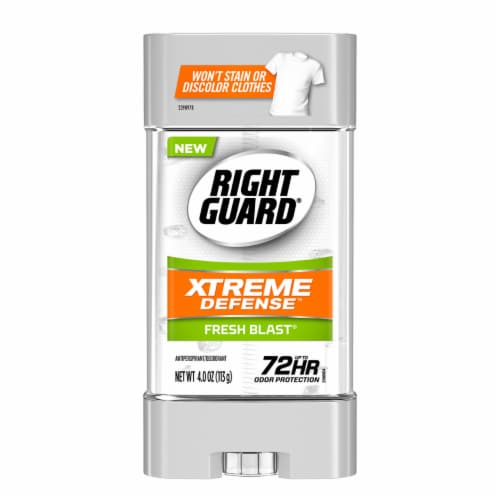 Right Guard Xtreme Defense Fresh Blast Antiperspirant Perspective: front