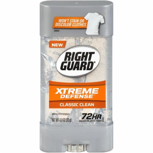 Right Guard Xtreme Defense Classic Clean Deodorant Perspective: front