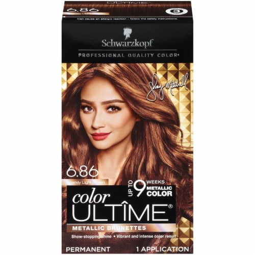 Schwarzkopf Color Ultime 6.86 Sparkly Light Brown Permanent Hair Color Perspective: front