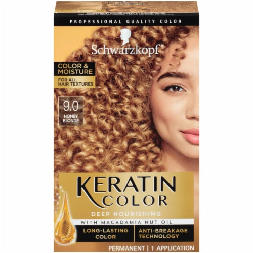 Schwarzkopf Keratin Color Honey Blonde Permanent Hair Color Perspective: front