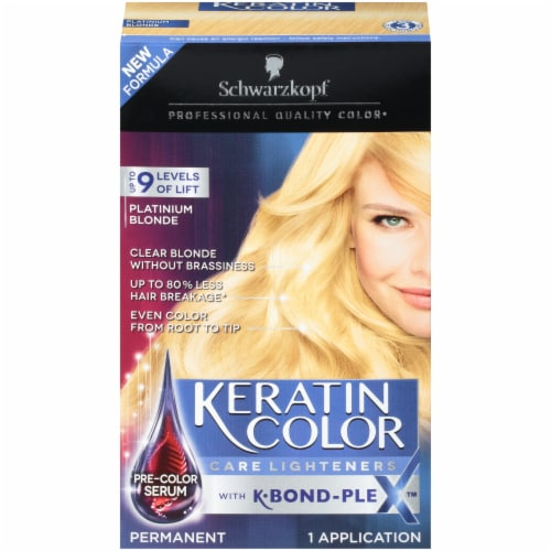 Schwarzkopf Keratin Color Platinum Blonde Hair Color Perspective: front