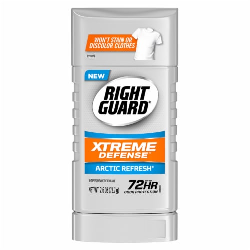 Right Guard Xtreme Defense Arctic Refresh Deodorant Perspective: front