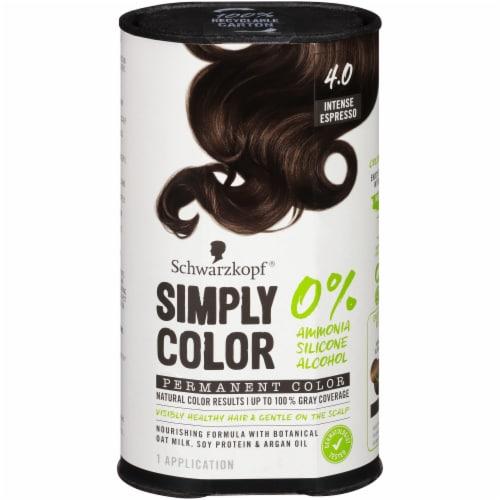Schwarzkopf Simply Color 4.0 Intense Espresso Hair Color Perspective: front