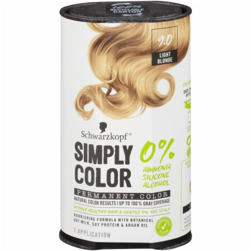 Schwarzkopf Simply Color 9.0 Light Blonde Hair Color Perspective: front