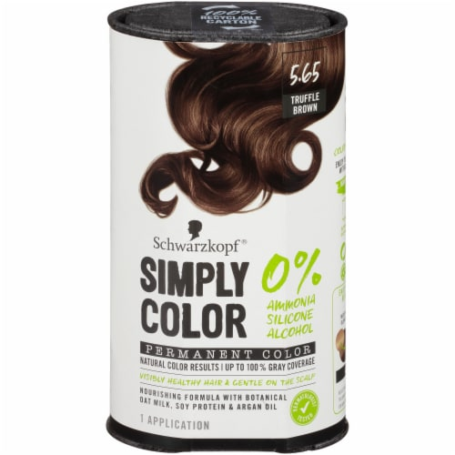 Schwarzkopf Simply Color 5.65 Truffle Brown Hair Color Kit Perspective: front