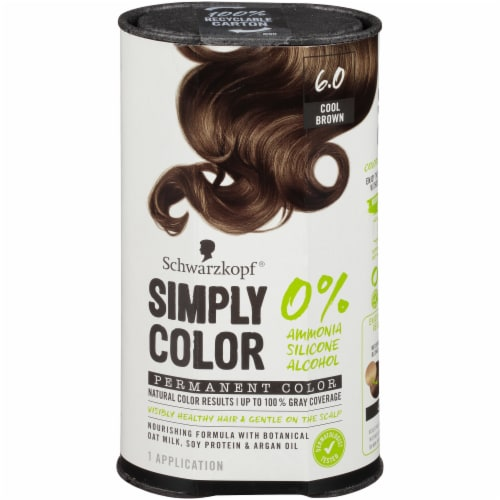 Schwarzkopf Simply Color 6.0 Cool Brown Hair Color Perspective: front