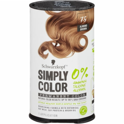 Schwarzkopf Simply Color 7.5 Almond Brown Hair Color Perspective: front
