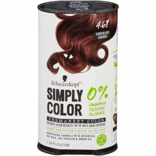 Schwarzkopf Simply Color 4.68 Chocolate Cherry Hair Color Perspective: front