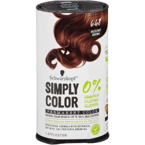 Schwarzkopf Simply Color 6.68 Hazelnut Brown Hair Color Perspective: front
