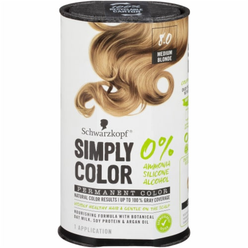 Schwarzkopf Simply Color 8.0 Medium Blonde Hair Color Kit Perspective: front