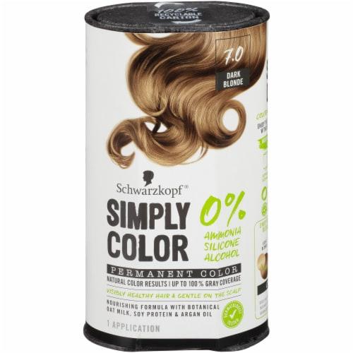 Schwarzkopf Simply Color Dark Blonde 7.0 Hair Color Kit Perspective: front