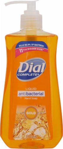 Dial Complete Gold Liquid Antibacterial Hand Soap Perspective: front