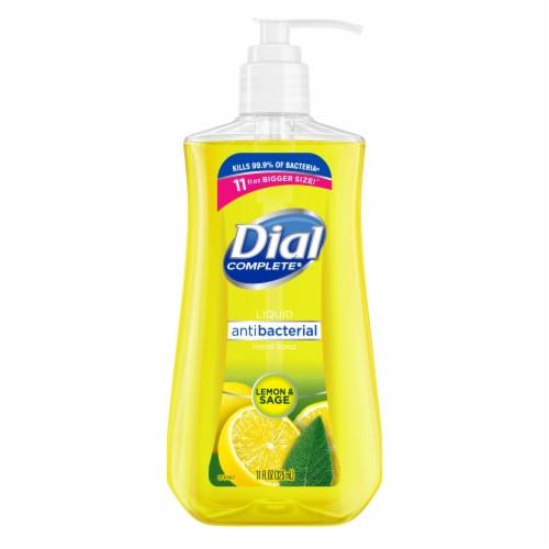 Dial Complete Liquid Hand Soap Lemon & Sage 11 oz Perspective: front
