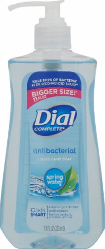 Dial Complete Spring Water Liquid Antibacterial Hand Soap Perspective: front