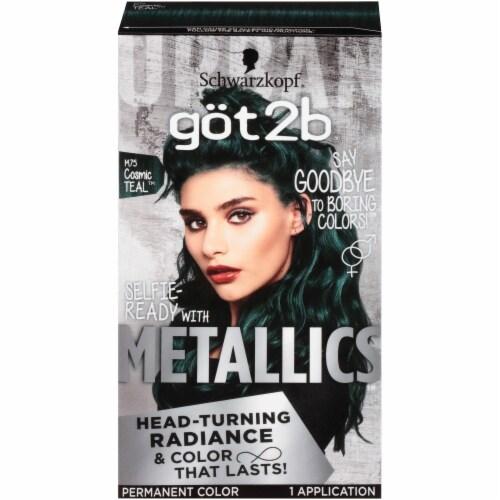 got2b Metallics M75 Cosmic Teal Hair Color Perspective: front