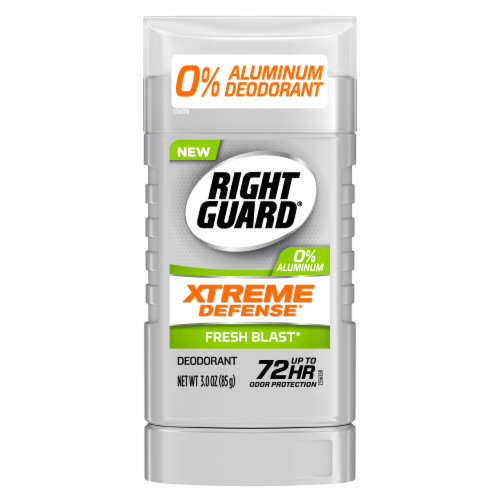 Right Guard Xtreme Defense Fresh Blast Deodorant Perspective: front