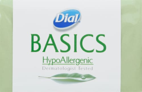 Dial Basics Hypoallergenic Bar Soap Perspective: front