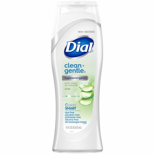 Dial Clean + Gentle Aloe Body Wash Perspective: front