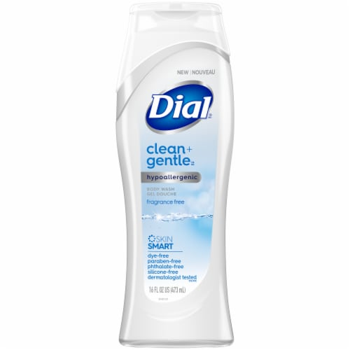 Dial Clean + Gentle Fragrance Free Body Wash Perspective: front