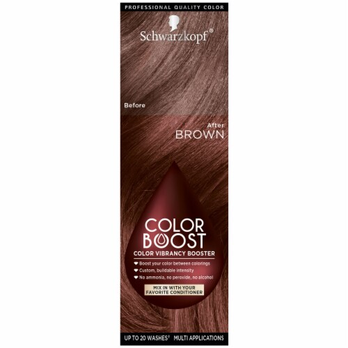 Schwarzkopf Color Boost Brown Hair Color Perspective: front