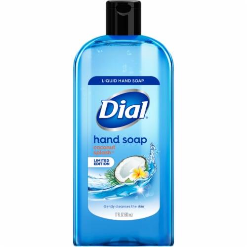 Dial Coconut Splash Liquid Hand Soap Perspective: front