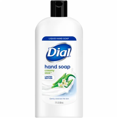 Dial Creamy Aloe Liquid Hand Soap Perspective: front