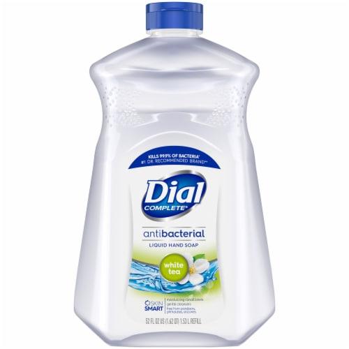 Dial White Tea and Vitamin E Liquid Soap Refill Perspective: front