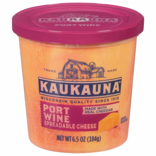Kaukauna Port Wine Spreadable Cheese Perspective: front