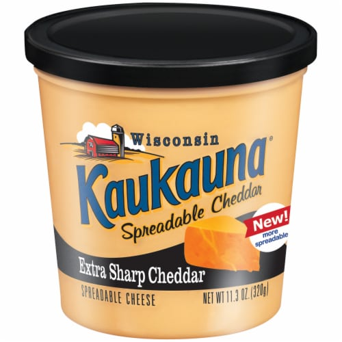 Kaukauna Extra Sharp Cheddar Spreadable Cheese Perspective: front