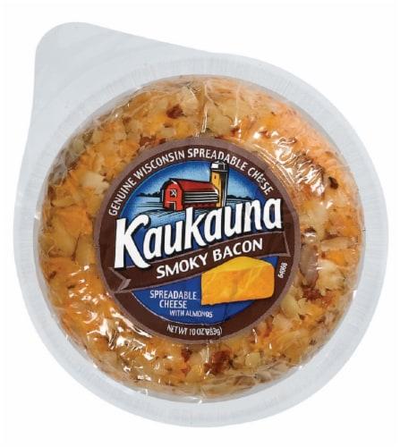 Kaukauna Smoky Bacon Cheeseball with Almonds Perspective: front
