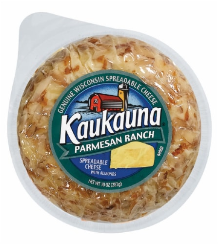 Kaukauna Parmesan Ranch Spreadable Cheese with Almonds Perspective: front