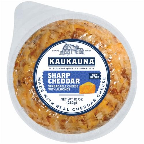 Kaukauna Sharp Cheddar Cheeseball Perspective: front